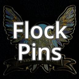 Flock-Made Pins