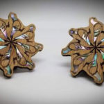Handmade Abalone-Inlaid Wooden Pins