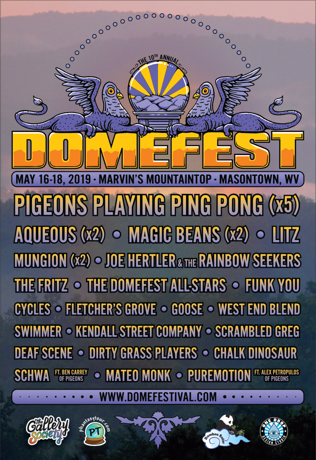 Final lineup for Domefest 2019
