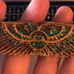 Bamboo Pigeon Wings (Green Glitter)