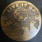 Wooden Live it Up (Monkeypod)